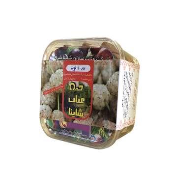 قند رژیمی حبه عناب شاینا با طعم توت - ۱۵۵ گرم