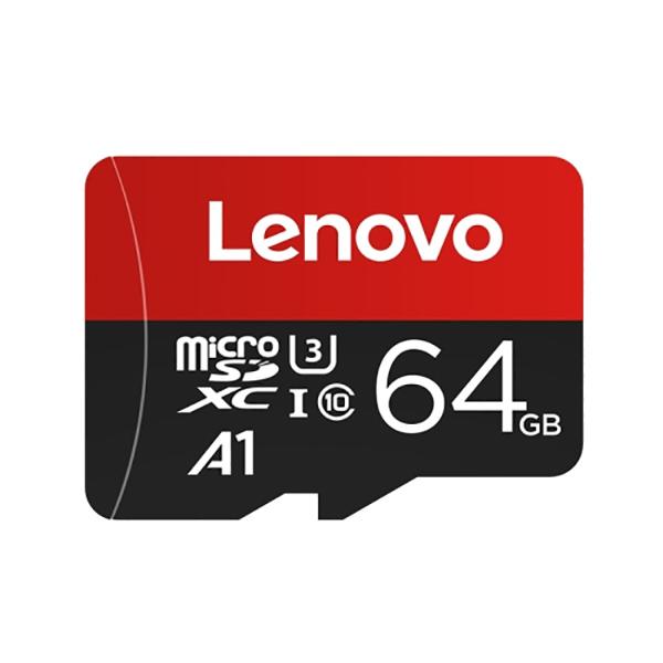 کارت حافظه microSDXC لنوو مدل A1 کلاس 10 استاندارد U3 سرعت 100MBps ظرفیت 64 گیگابایت