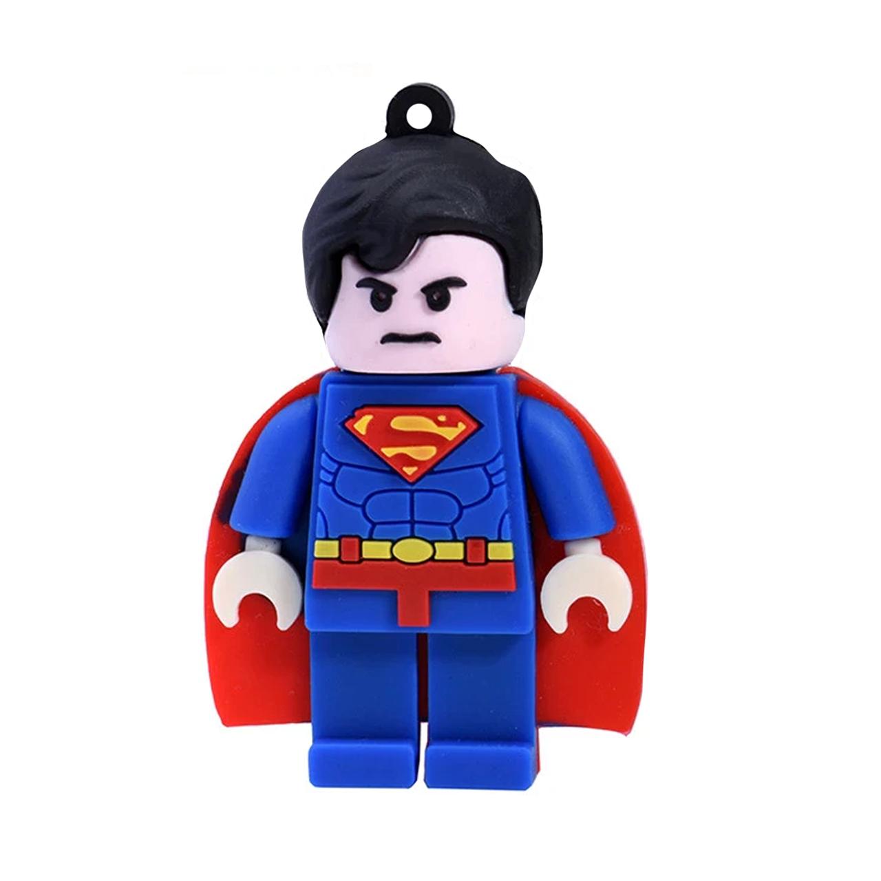 بررسی و خرید [با تخفیف]                                     فلش مموری طرح Lego Superman مدل DPL1168 ظرفیت 16 گیگابایت                             اورجینال