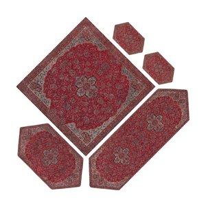 ست 5 تکه رومیزی ترمه مدل شاه عباسی کد Shzr5.5