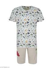ست تی شرت و شلوارک راحتی مردانه مادر مدل 2041110-07 -  - 2