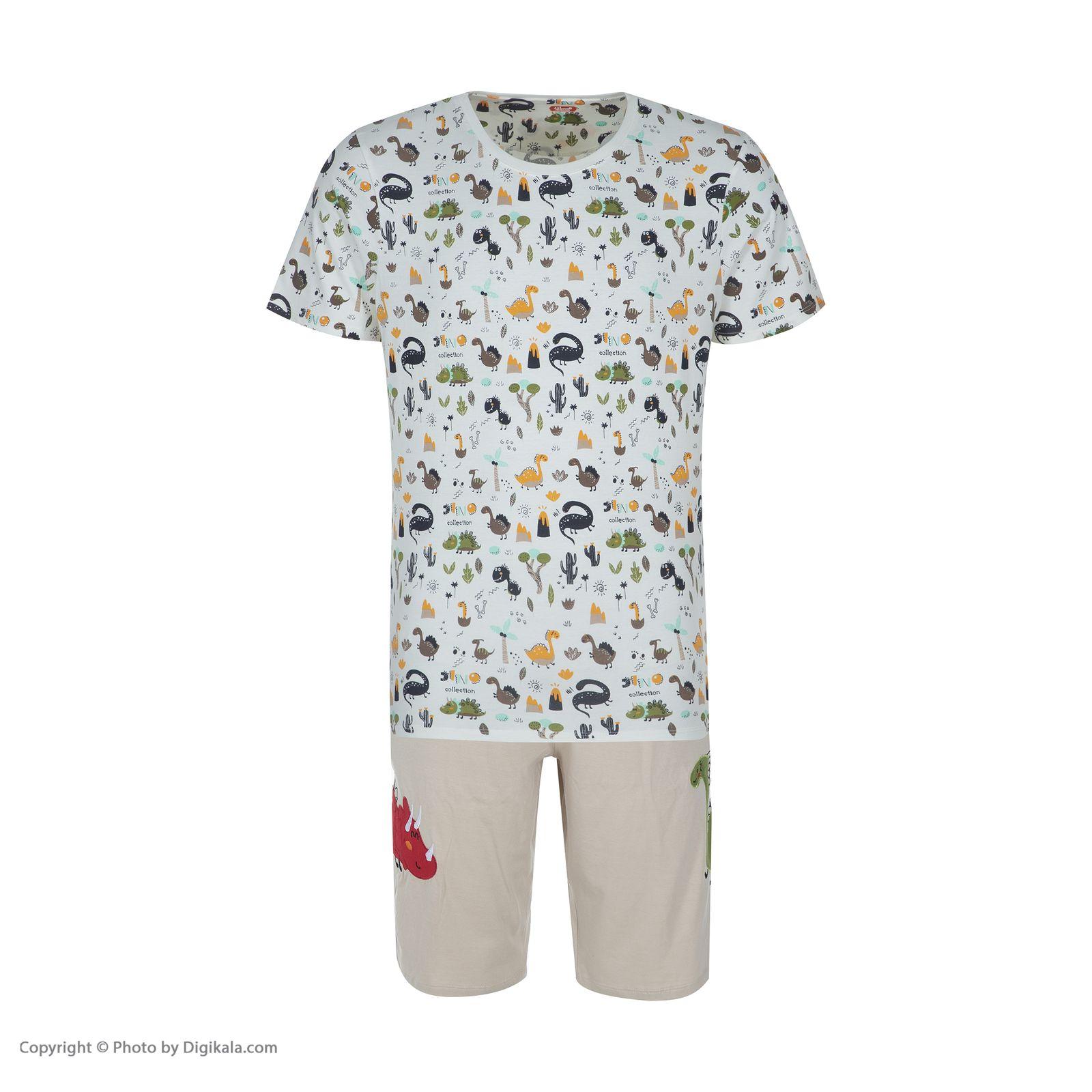 ست تی شرت و شلوارک راحتی مردانه مادر مدل 2041110-07 -  - 3