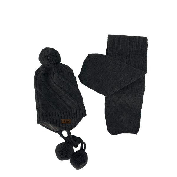 ست کلاه و شال گردن بافتنی پسرانه آی چیلک مدل IC021