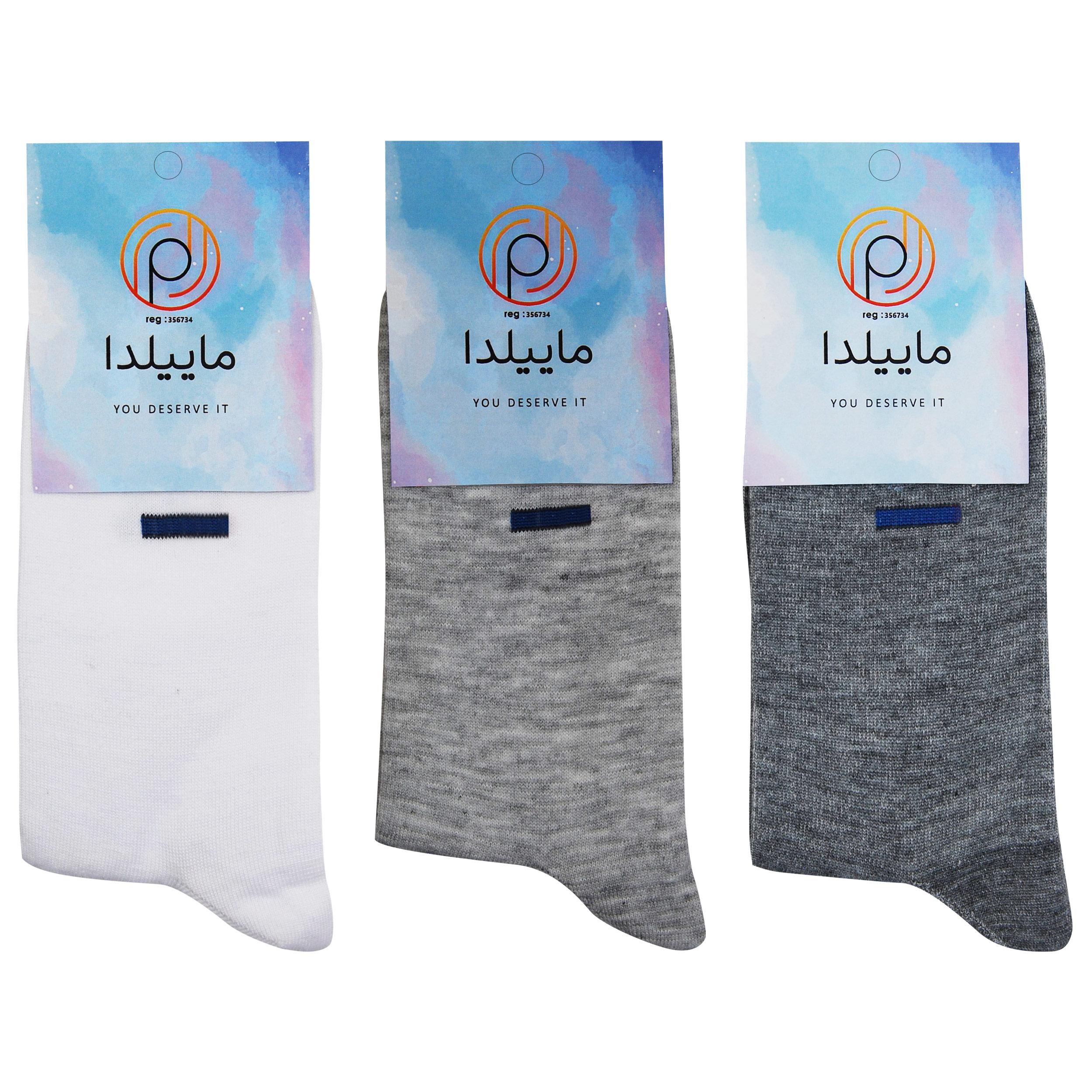 جوراب مردانه ماییلدا کد 3416-120-2 مجموعه 3 عددی