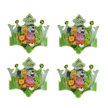 تاج تولد مستر تم طرح حیوانات جنگل بسته 4 عددی