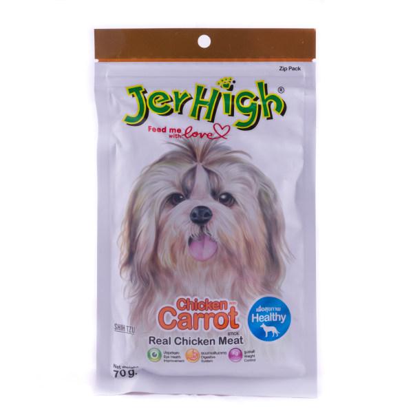 غذای تشویقی جرهای سگ مدلChicken With Carrot وزن 70 گرم
