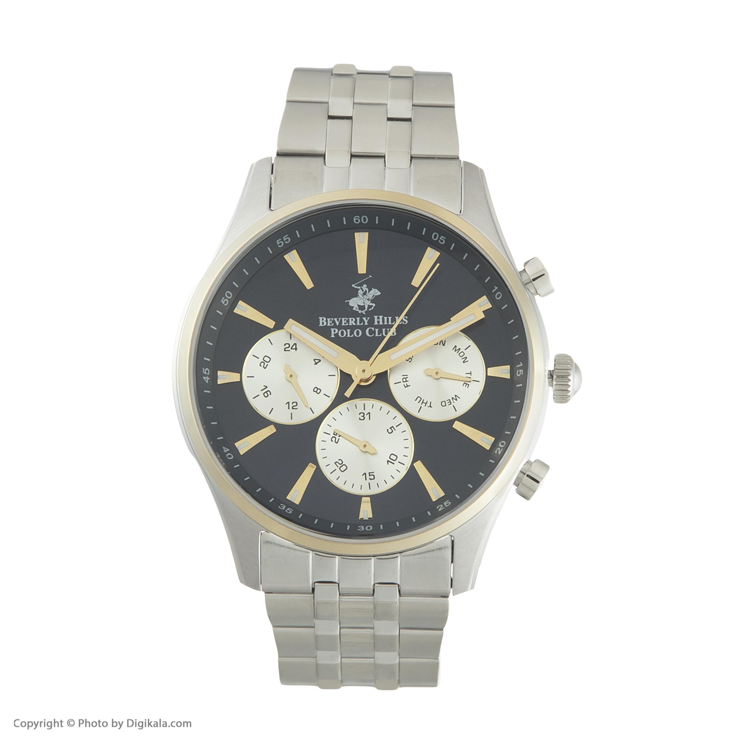 ساعت مچی عقربهای مردانه بورلی هیلز پولو کلاب مدل BP3009X.290