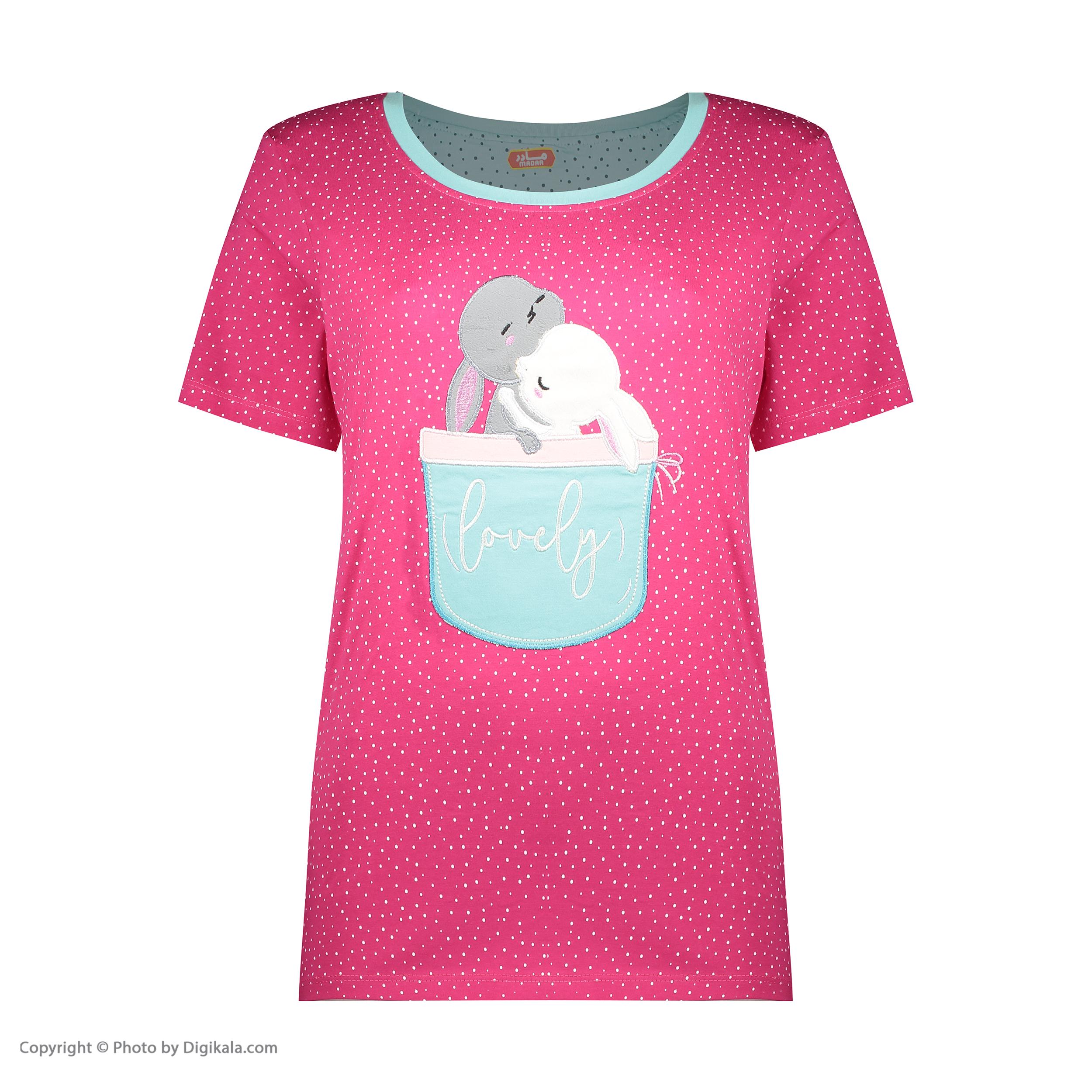 ست تی شرت و شلوارک راحتی زنانه مادر مدل 2041102-66 -  - 4