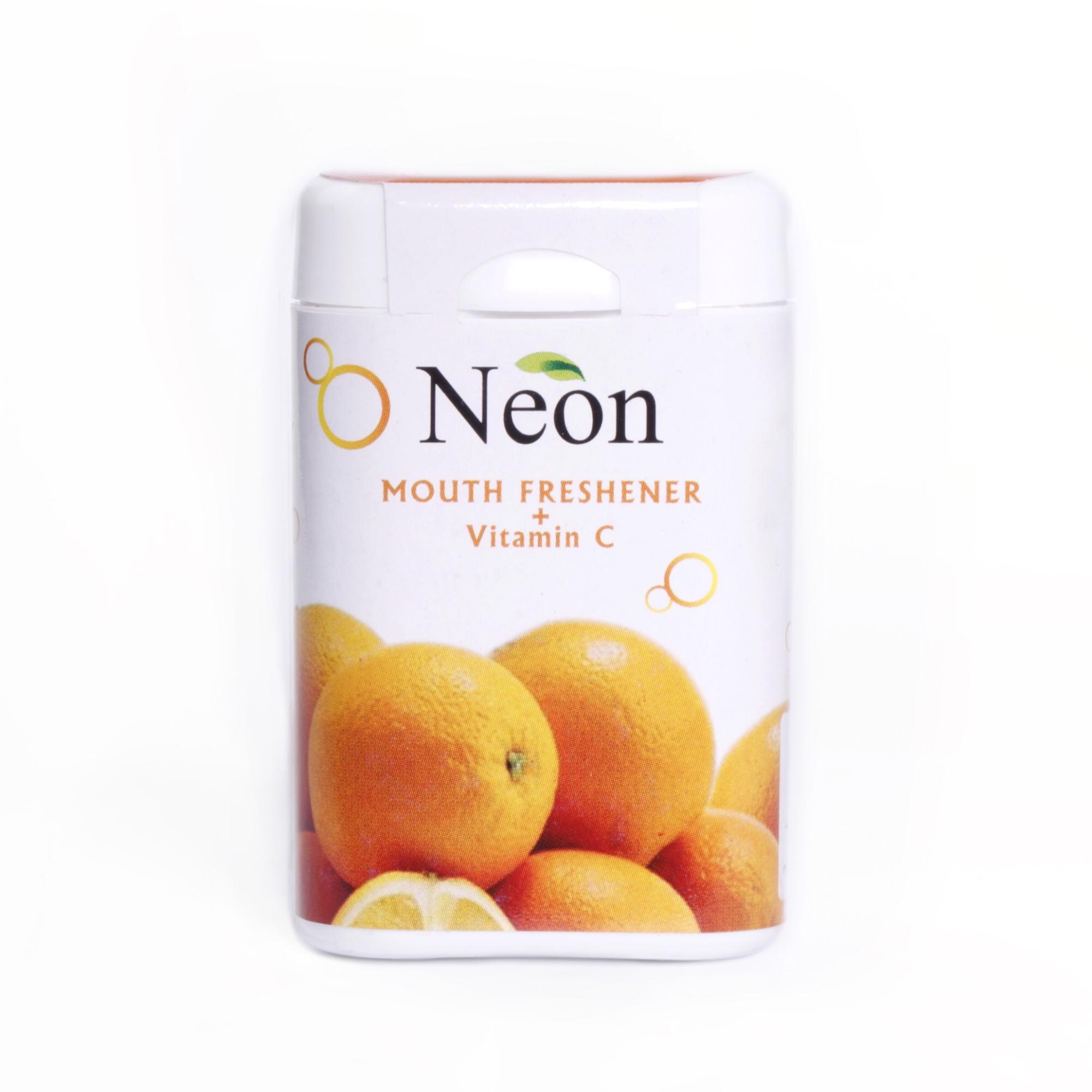 قرص خوشبو کننده دهان نئون با طعم پرتقال - 15 گرم