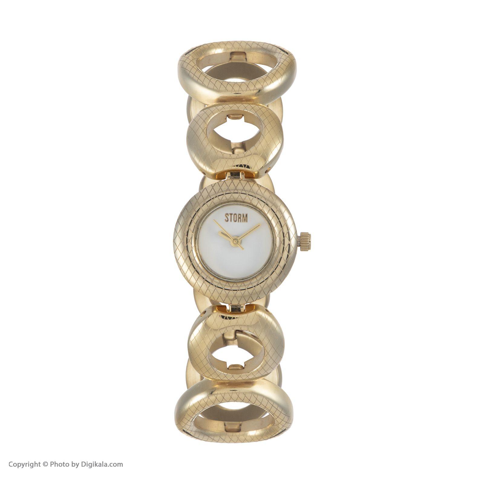 ساعت مچی عقربه ای زنانه استورم مدل ST 47124-GD -  - 3