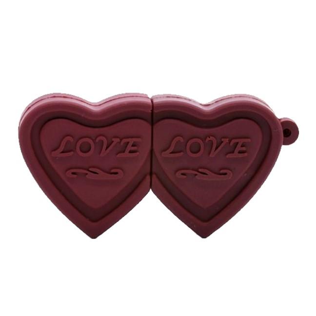 بررسی و {خرید با تخفیف}                                      فلش مموری پرلیت یو اس بی طرح شکلات قلبی مدل W-37-U3.0 ظرفیت 128 گیگابایت                             اصل