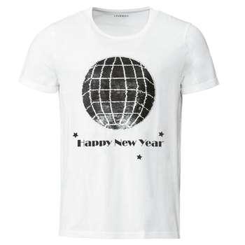 تیشرت آستین کوتاه مردانه لیورجی مدل World2020 رنگ سفید