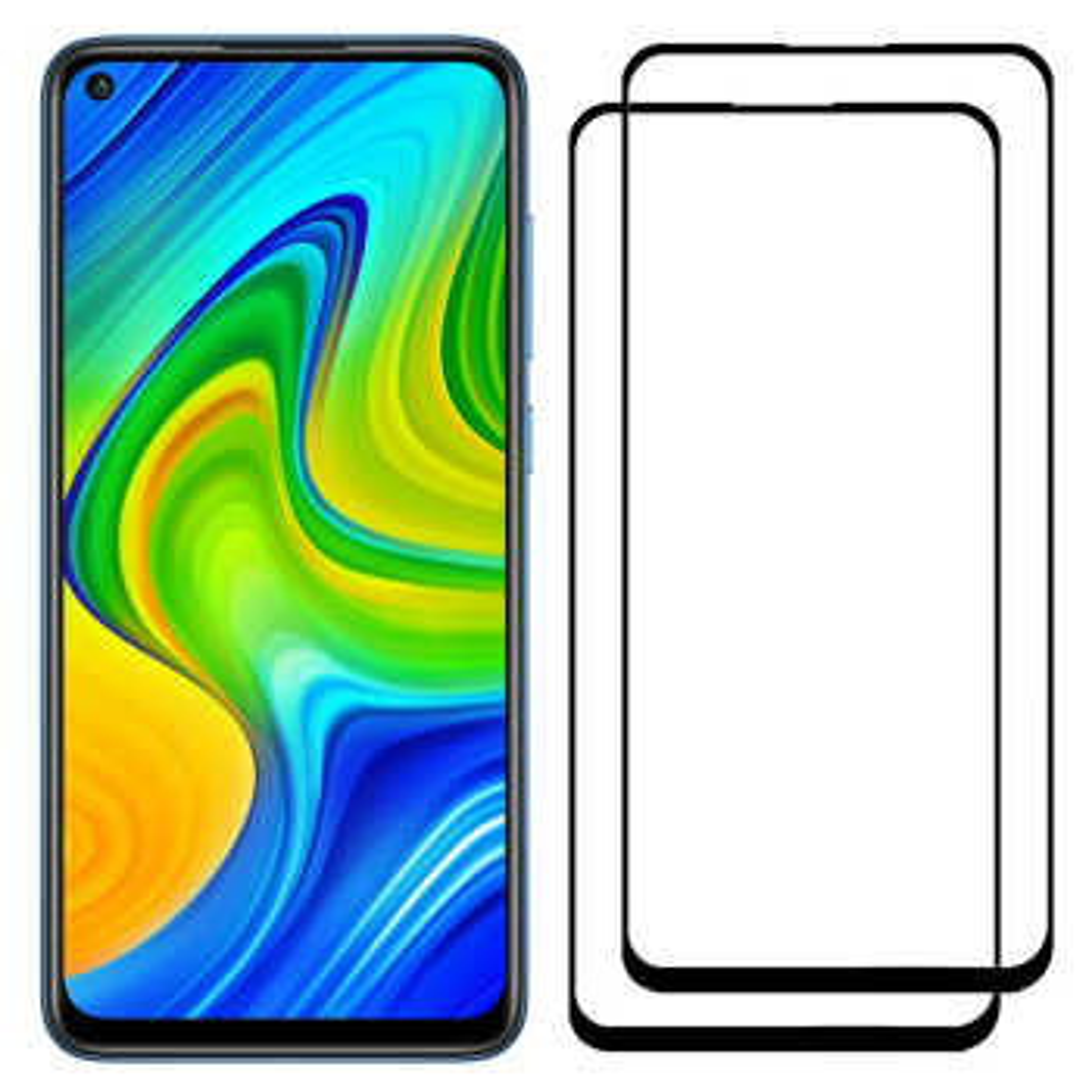 محافظ صفحه نمایش مدل FCG مناسب برای گوشی موبایل شیائومی Redmi Note 9 بسته دو عددی