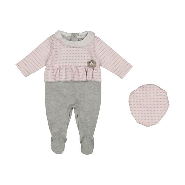 ست سرهمی و کلاه نوزادی فیورلا مدل 20552