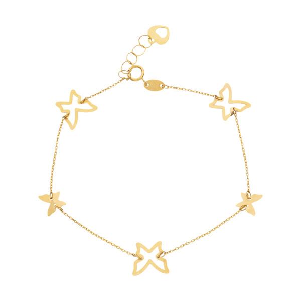 دستبند طلا 18 عیار زنانه مایا ماهک مدل MB1219