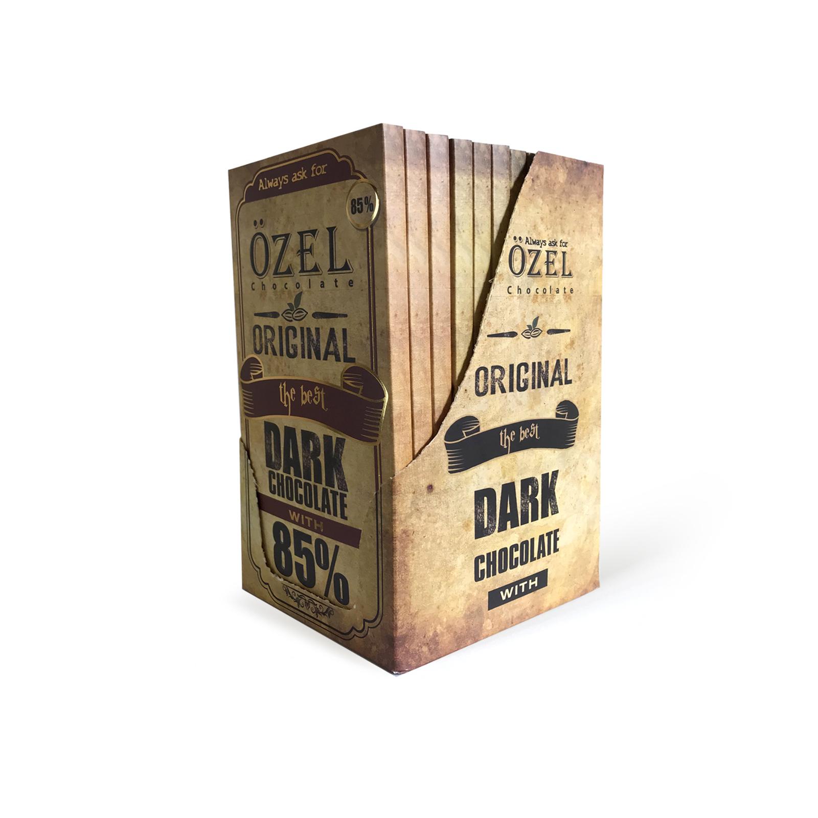 شکلات تلخ 85 درصد کرال بسته 12 عددی