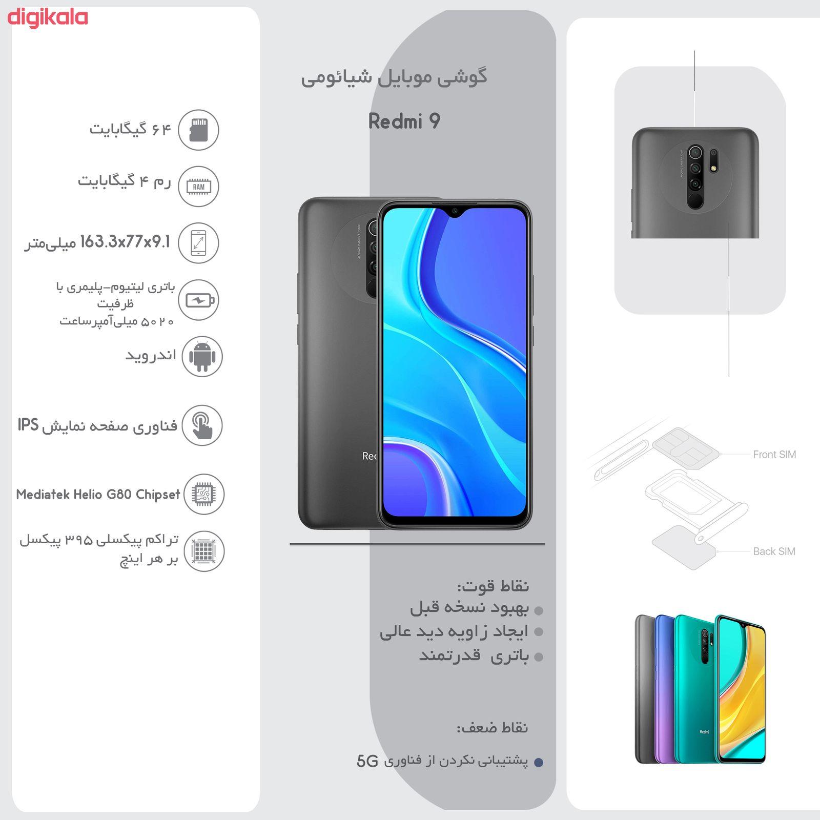 گوشی موبایل شیائومی مدل Redmi 9 M2004J19G دو سیم کارت ظرفیت 64 گیگابایت main 1 18