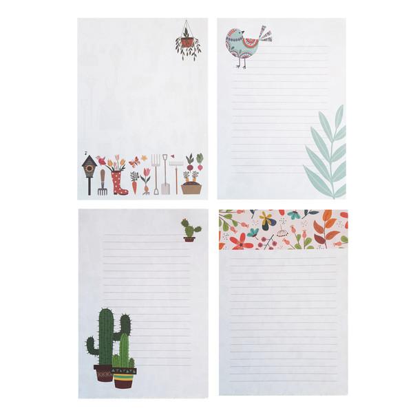 کاغذ یادداشت طهوری طرح باغچه من کد S6010 مجموعه 100 عددی