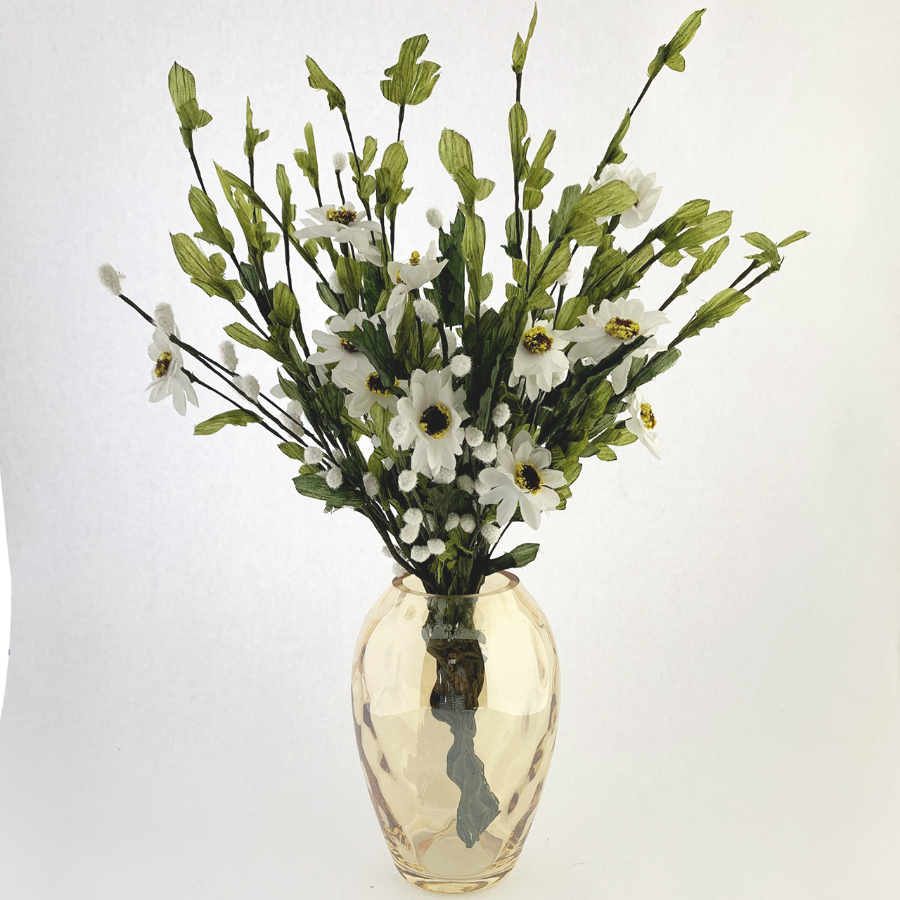 گلدان به همراه گل مصنوعی هومز مدل 82600