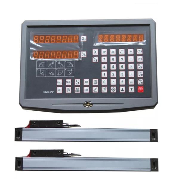 خط کش دستگاه تراش مدل DRO-600 مجموعه دو عددی به همراه نمایشگر دیجیتال