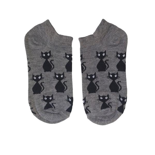 جوراب زنانه طرح گربه ایستاده کد 10014