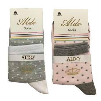 جوراب زنانه مدل AL1 مجموعه 2 عددی