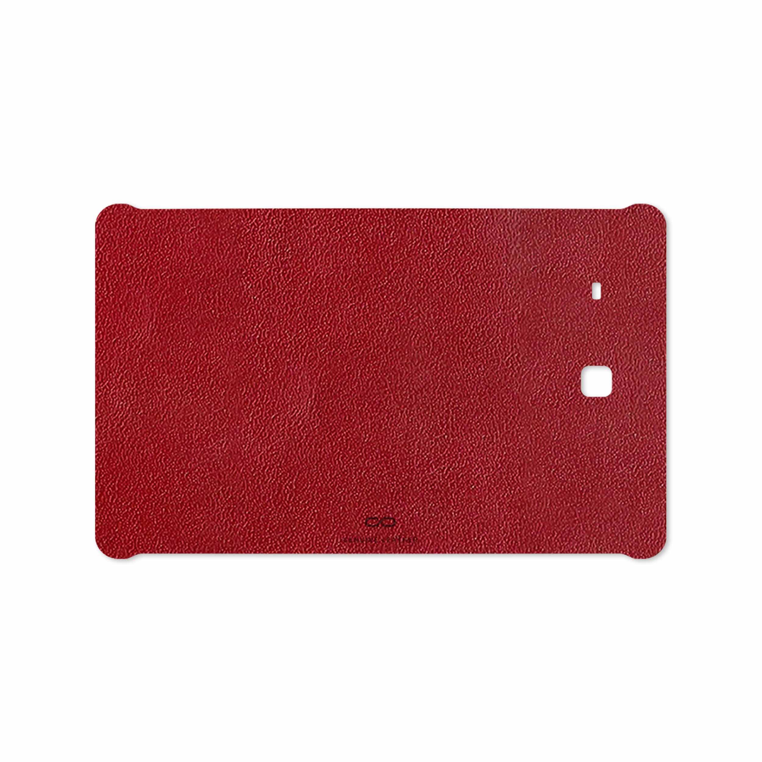 بررسی و خرید [با تخفیف]                                     برچسب پوششی ماهوت مدل Red-Leather مناسب برای تبلت سامسونگ Galaxy Tab E 9.6 2015 T561                             اورجینال