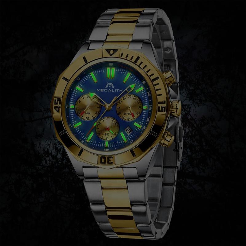 ساعت مچی عقربه ای مردانه مگالیت مدل 8206-SG              ارزان