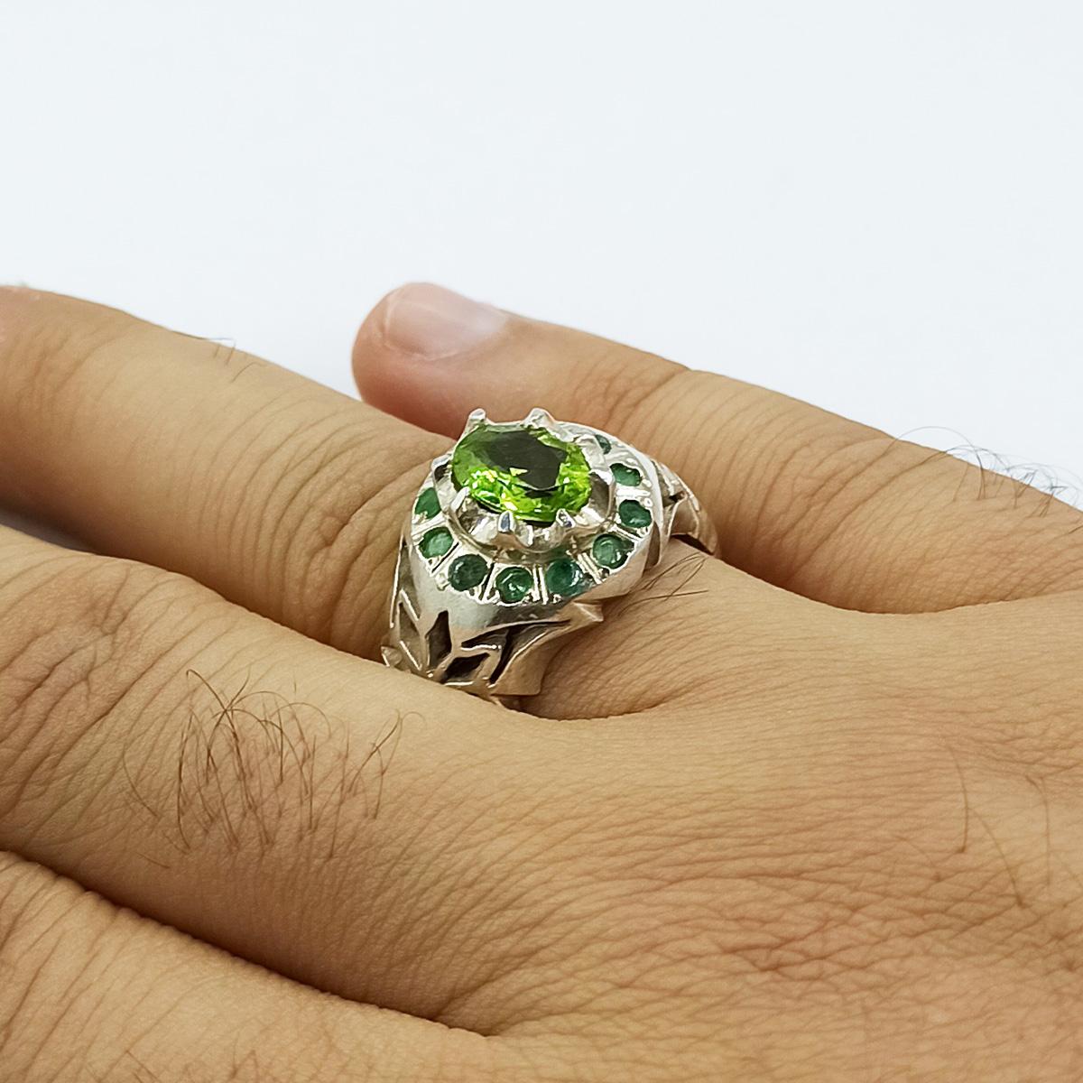انگشتر نقره مردانه سلین کالا مدل زبرجد ce-As170