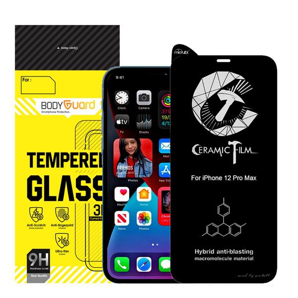 محافظ صفحه نمایش بادیگارد مدل CRMI مناسب برای گوشی موبایل اپل iPhone 12 Pro Max