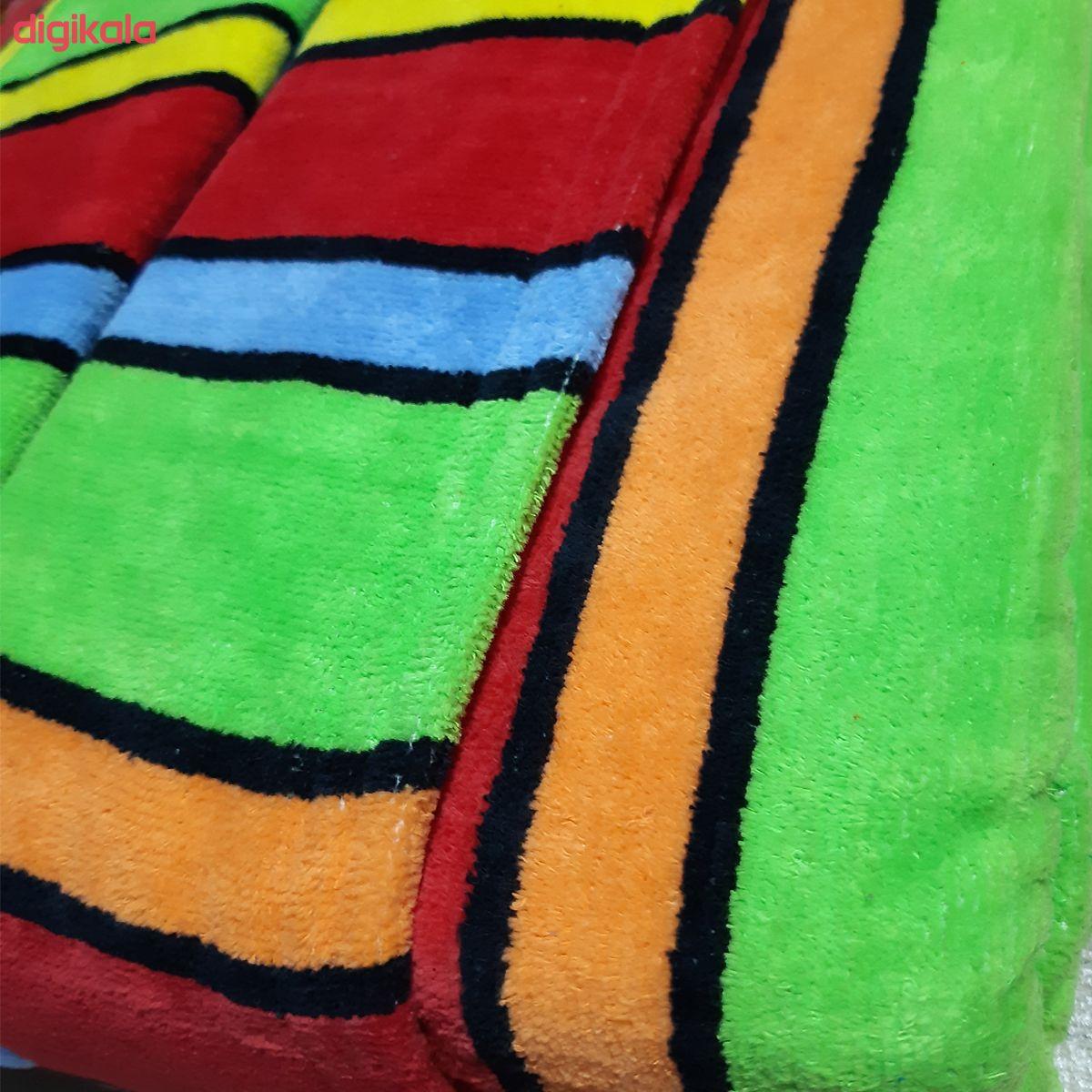 حوله پالتویی آذربافت مدل رنگی رنگی سایز 125 main 1 6