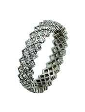 انگشتر نقره زنانه کد TSVR0016 -  - 1