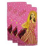 حوله دستی طرح عروسکی مدل باربی سایز 31x61 سانتی متر بسته سه عددی thumb