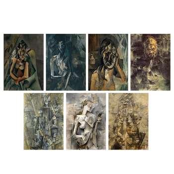 تابلو شاسی طرح آثار پابلو پیکاسو کد SET012 مجموعه 7 عددی