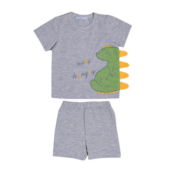 ست تی شرت و شلوارک نوزادی فیورلا مدل 21046