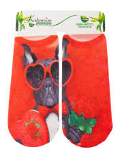 جوراب دخترانه کاتامینو طرح سگ جنتلمن  -  - 1