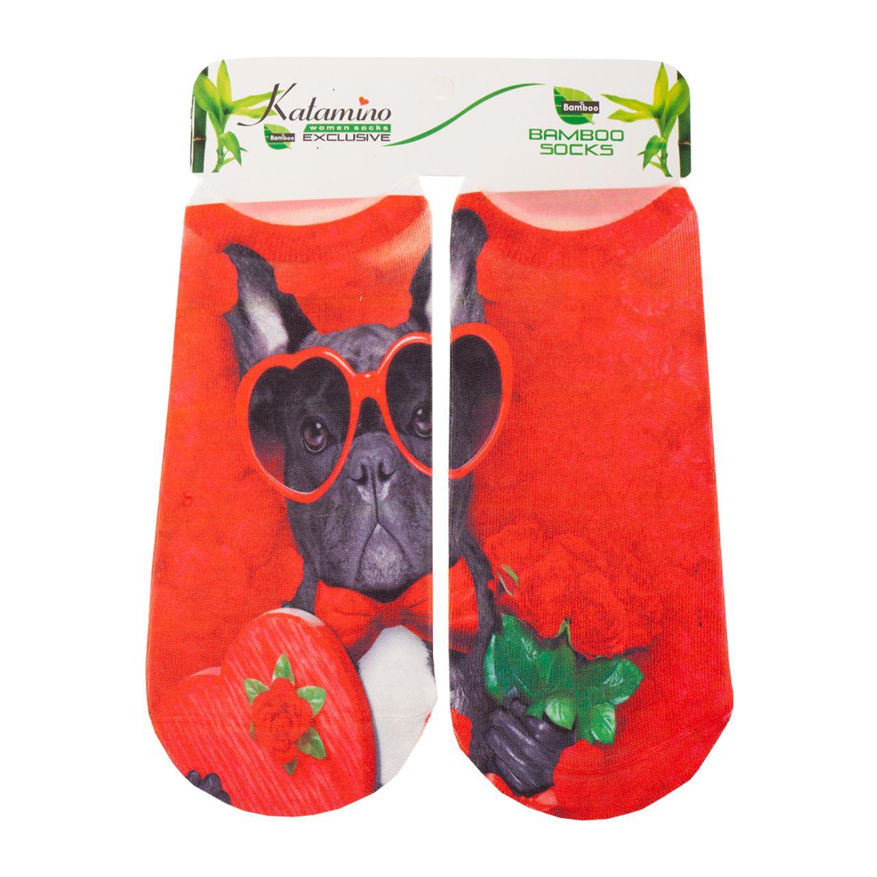 جوراب دخترانه کاتامینو طرح سگ جنتلمن  -  - 3