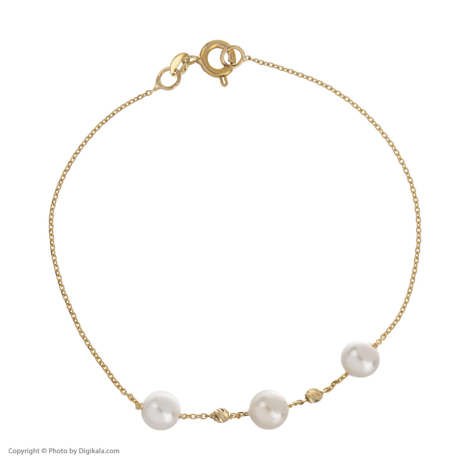 دستبند طلا 18 عیار زنانه مایا ماهک مدل ZMB1051 -  - 3