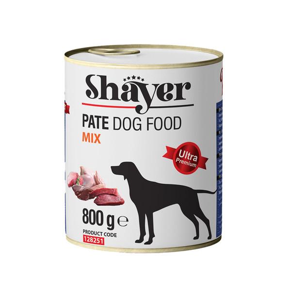 کنسرو غذای سگ شایر مدل Mix وزن 800 گرم