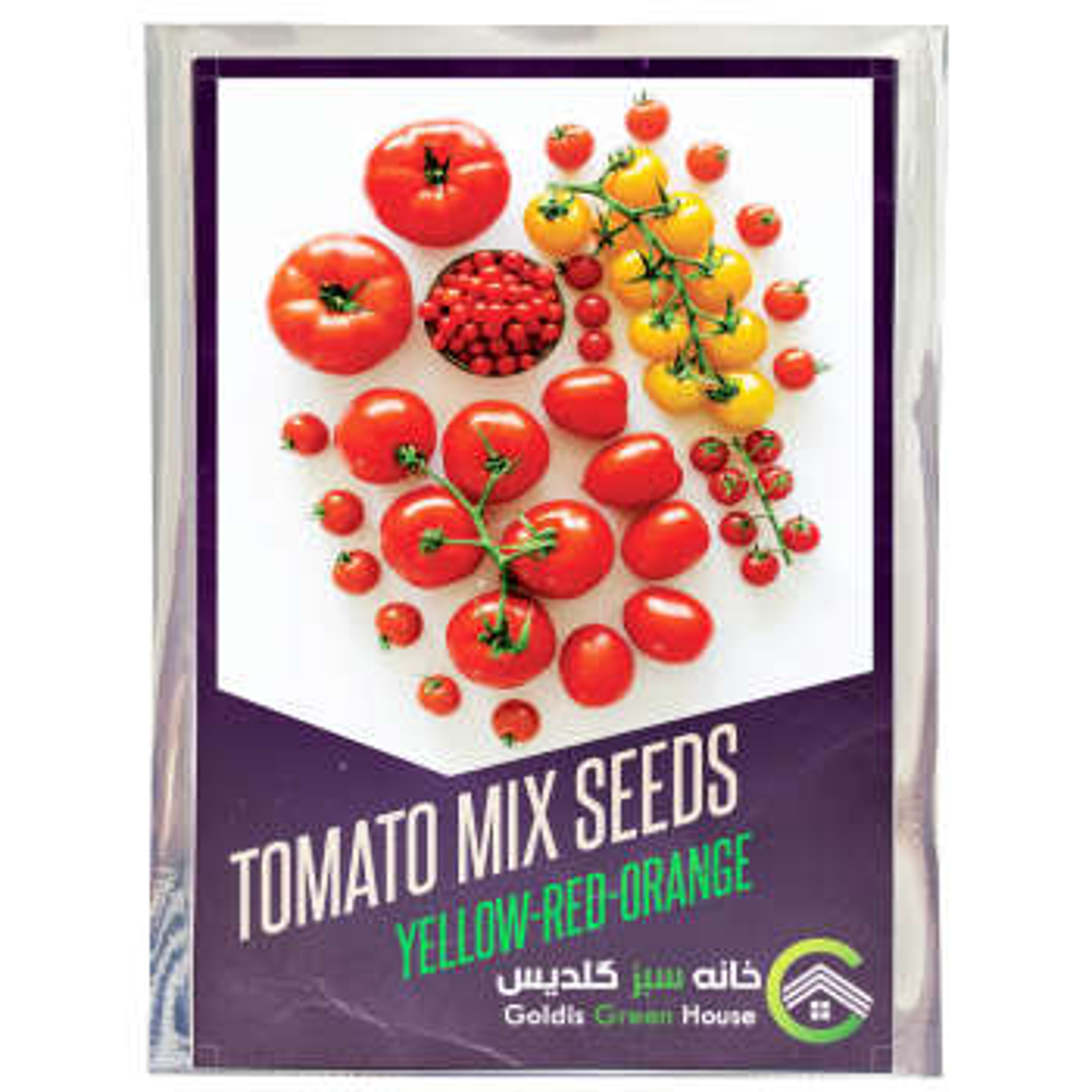 بذر گوجه میکس رنگی خانه سبز گلدیس کد 34