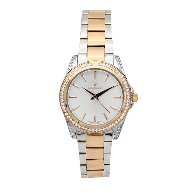 خرید                                      ساعت مچی عقربه ای زنانه رومانسون مدل 01555