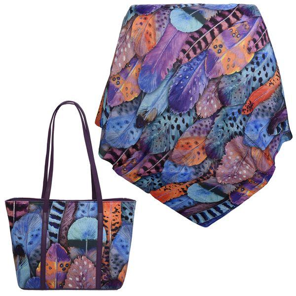 ست کیف و روسری زنانه کد 980235-T1