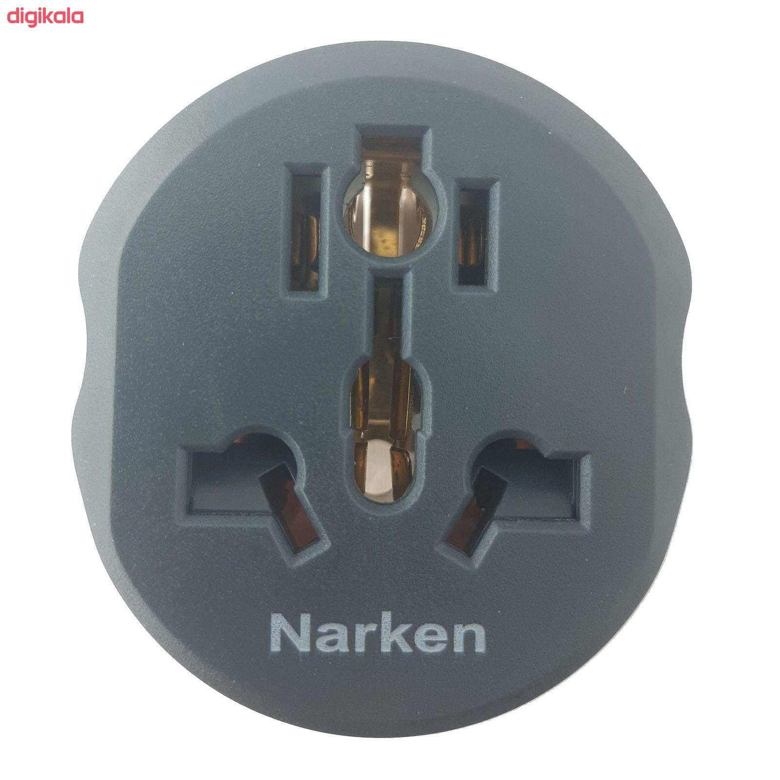 مبدل برق 3 به 2 نارکِن مدل 16A main 1 2