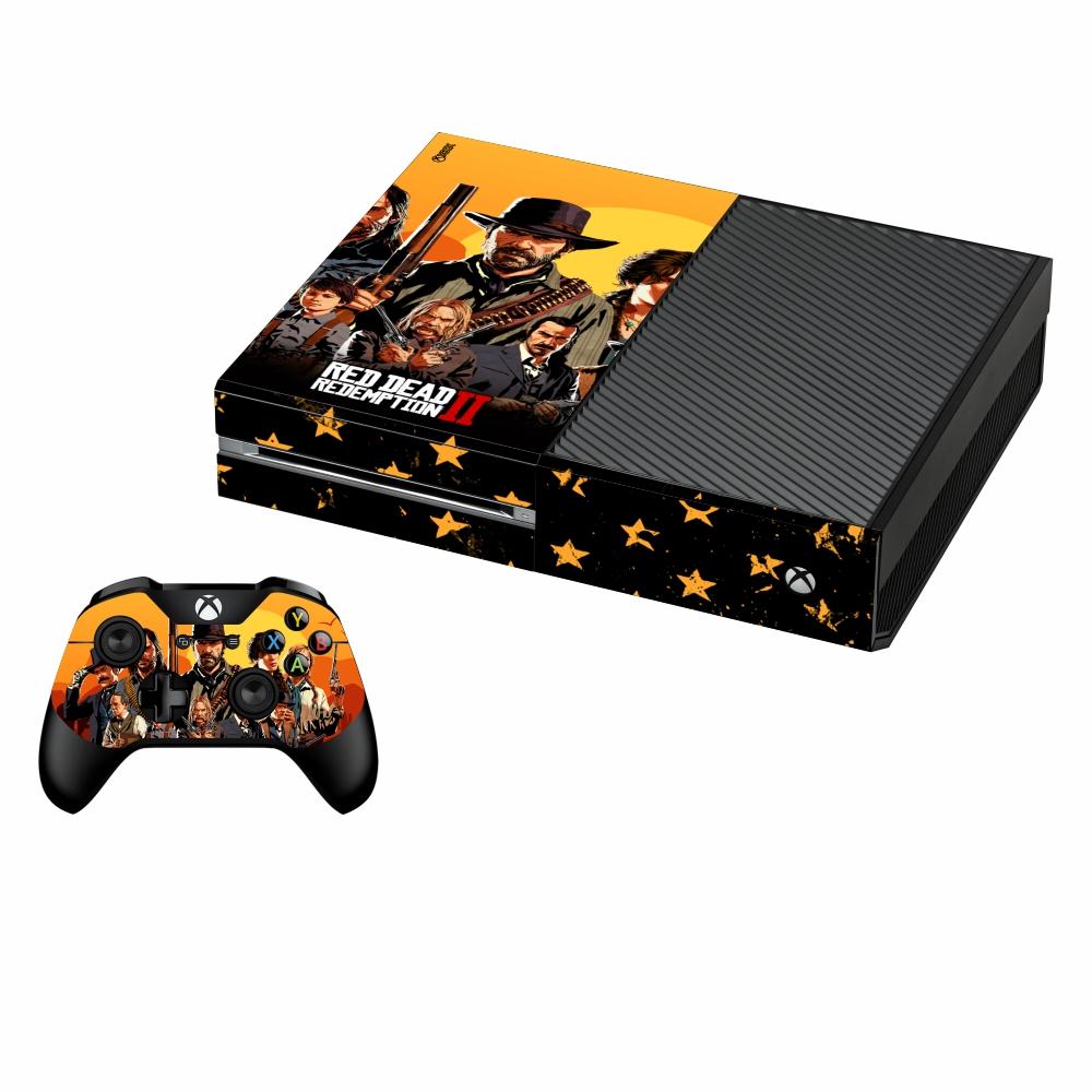 بررسی و {خرید با تخفیف} برچسب ایکس باکس وان فت پلی اینفینی مدل Red Dead Redemption 2 04 به همراه برچسب دسته اصل