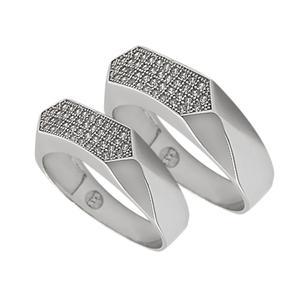 ست انگشتر نقره زنانه و مردانه مدل po7895