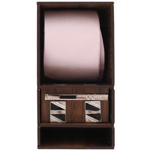 ست کراوات و گیره کراوات و دکمه سردست مردانه مدل PJ-104681