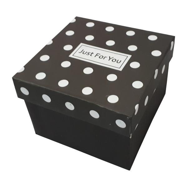 جعبه هدیه طرح خالخالی مدل JUST FOR YOU کد 99