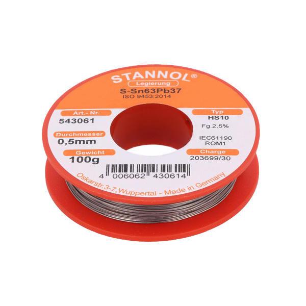 سیم لحیم استانول مدل 0.5mm - SN63PB37 وزن 100 گرم