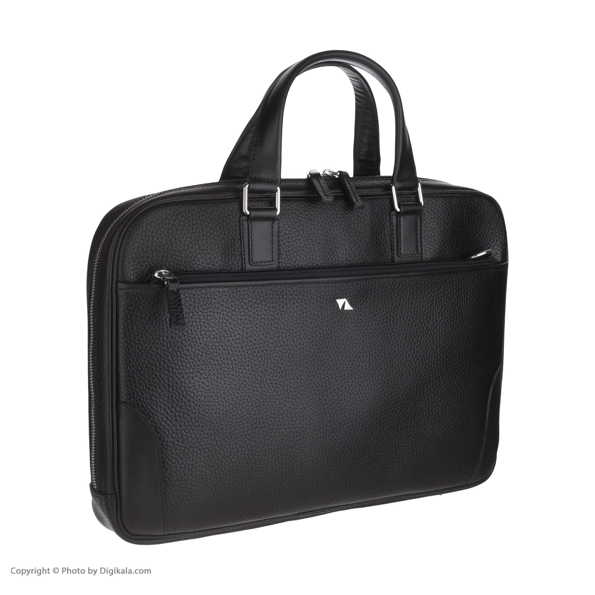 خرید                                     کیف اداری مردانه چرم مشهد مدل A5565-001