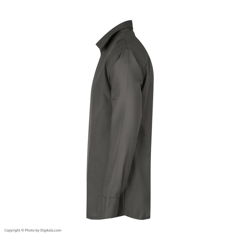 پیراهن آستین بلند مردانه گری مدل H30